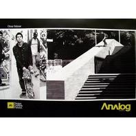 BURTON ANALOG OMAR SALAZAR skateboard 2 side poster NEW