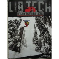 LIB TECH snowboard TRAVIS RICE 2 sided catalogue promotional poster Flawless