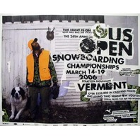 BURTON snowboard 2006 US OPEN promotional poster ~MINT NEW old stock~!!