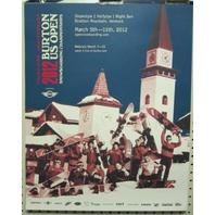 BURTON snowboard 2012 US OPEN promo poster ~LAST IN VERMONT~ ~MINT condition~!