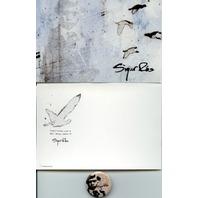 SIGUR ROS 2005 GEFFEN RECORDS TAKK promotional postcard & badge/button ~MINT~!