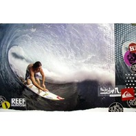 QUICKSILVER surf REEF McINTOSH promotional poster ~MINT condition~NEW old stock~
