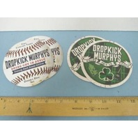 DROPKICK MURPHYS 2011 going out in style 4 beverage coaster set promo New Mint