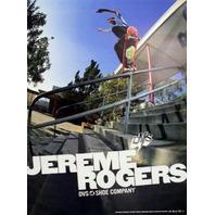 DVS 2004 Jereme Rogers skateboard promo poster!~~MINT condition~~!