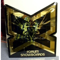 FORUM snowboards 2007 BIG embossed dealer display signage New Old Stock