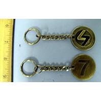 BURTON snowboard 2006 supa cool 7 token metal keychain ~NEW~!!