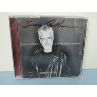 BRUCE COCKBURN 2002 Anything Anytime Anywhere (Singles 1979-2002) ~AUTOGRAPHED !
