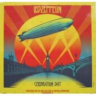 LED ZEPPELIN 2012 celebration day promo BIG static cling window sticker New Old