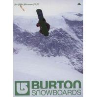BURTON snowboard 2003 Gigi Ruf promotional poster Flawless New Old Stock
