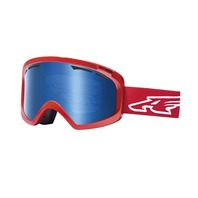 ARNETTE snowboard ski 2014 WINDSHIELD GOGGLE team red/ice chrome lens ~NEW~!!