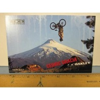 OAKLEY surf sun snow 2006 CEDRIC GRACIA bike dealer promo display card~NEW~!