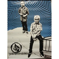 VOLCOM surf skateboard snowboard YOUTH AGAINST double sided Huge Dealer Banner