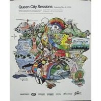 BURTON snowboard 2010 QUEEN CITY SESSIONS promotional poster ~NEW old stock~!!