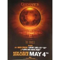 "GODSMACK 2010 the oracle static BIG cling ""sticker"" ~NEW~!!"