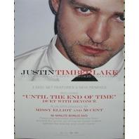 JUSTIN TIMBERLAKE 2006 FutureSex / LoveSounds BIG static cling sticker New