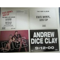 ANDREW DICE CLAY 2000 FACE DOWN A** UP 2 promo postcard set ~NEW~SNOOP DOGG~!