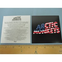 ARCTIC MONKEYS 2011 STARS AND STRIPES TOUR promotional sticker New Old Stock