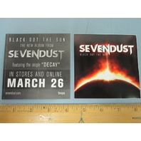 SEVENDUST 2013 BLACK OUT THE SUN promotional sticker New Old Stock Mint Cond