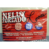 NELLY FURTADO 2006 LOOSE geffen records 4 button set ~MINT cond. NEW old stock~!