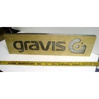BURTON snowboard 2005 GRAVIS footwear BIG metal/wood display ~NEW~!!