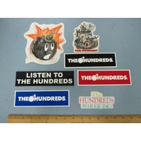 THE HUNDREDS skateboard dealer shop promotional 7 sticker set ~NEW OLD STOCK~!!
