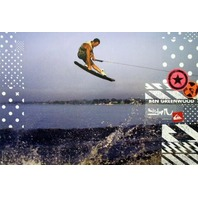 QUICKSILVER wakeboard BEN GREENWOOD promo BIG poster MINT cond New old Stock