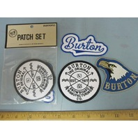 BURTON snowboard 2015 Promo 3 Patch Set New Old Stock In Package