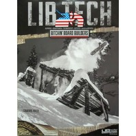 LIB TECH snowboard TRAVIS RICE 2 sided MAGNE-TRACTION promotional poster ~NEW~!!