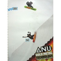 GNU snowboard 2014 FOREST BAILEY 2 sided promotional poster ~NEW~MINT~!!