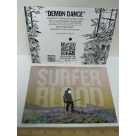 SURFER BLOOD 2013 DEMON DANCE flexi disc promo postcard record ~NEW~!!