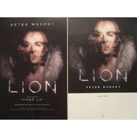 PETER MURPHY 2014 LION 2 sided promotional poster ~NEW~!~BAUHAUS~!