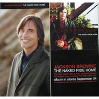 JACKSON BROWNE 2002 NAKED RIDE HOME 2 sided promotional poster ~NEW old stock~!