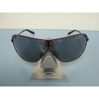 OAKLEY womens COLLECTED sunglass Cayenne Red/Grey OO4078-04 NEW in Oakley case