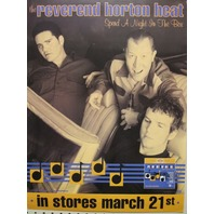 REVEREND  HORTON HEAT 2000 NIGHT IN BOX promotional poster ~N.O.S.~MINT cond.~!