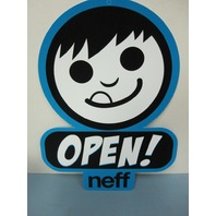 NEFF surf BMX skateboard snowboard 2015 DEALER OPEN/CLOSED signage ~NEW~!!