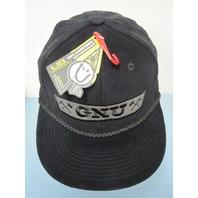 GNU surf skateboard snowboard PHILLIPS cord SNAPBACK HAT BALLCAP black ~NEW~!!