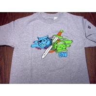 GNU surf skateboard snowboard ski DANNY T-SHIRT youth MEDIUM GREY~NEW~!