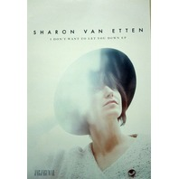 SHARON VAN ETTON 2015 Let You Down EP promotional poster ~NEW~MINT condition~!!