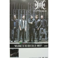 HINDER 2015 when the smoke clears promotional poster ~NEW~MINT condition~!!