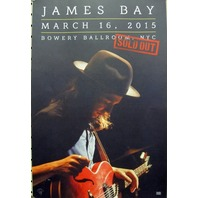 JAMES BAY 2015 Bowery Ballroom NYC 3/16/15 promotional print~NEW~MINT condition~