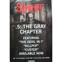 SLIPKNOT 2014 .5 THE GRAY CHAPTER promotional JUMBO poster ~NEW~!
