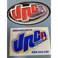 2 BIG vintage JNCO JEANS stickers ~NEW OLD STOCK~!!skateboard snowboard surf BMX