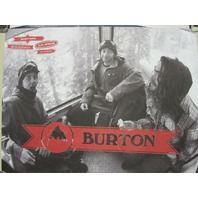 BURTON snowboards 2013 MARK McMORRIS/HANNAH promo poster New Old Stock Mint Cond