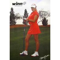 WINN golf grips super hot NATALIE GULBIS 2008 promo poster ~NEW old stock~MINT~!