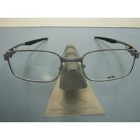 OAKLEY mens RX eyeglass frame Backwind Satin Grey OX3164-0151 New w/Oakley case