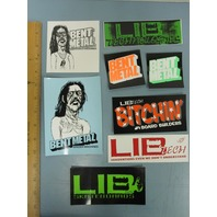 LIB TECH snowboard skateboard surf ski 8 PACK LOGO STICKERS #1 ~NEW old stock~!