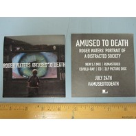 ROGER WATERS 2015 AMUSED TO DEATH promotional sticker ~MINT~NEW old stock!!