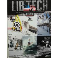 LIB TECH snowboard 2015 RIPPERS JAMIE LYNN E.J. promotional poster ~NEW~MINT~!
