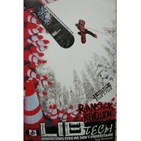 LIB TECH snowboard 2015 JESSE BURTNER ransack promotional poster ~NEW~MINT~!