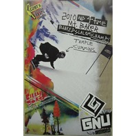 GNU snowboard 2015 TEMPLE CUMMINS Billy Goat promotional poster ~NEW~MINT~!